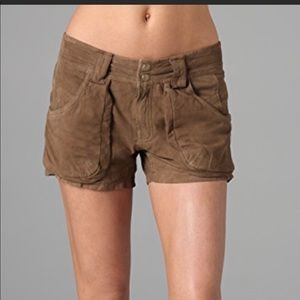Free people Suede shorts